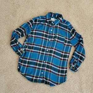 Old Navy Size 8 Girls Flannel Shirt Blue